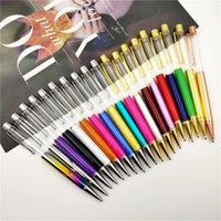 선물 볼펜 DIY 펜 배럴당 슬리버와 빈 펜 황금 부분 파란색 검은 잉크 특히 럭셔리 펜