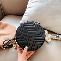 مصمم مصغرة حقيبة يد سلسلة الجلود المرأة الصغيرة جولة حقيبة الكتف محفظة