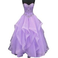 2021 Organza Ruffles Sweetheart Ball Gown Quinceanera Dresses Beaded Sweet 16 Year Prom Party Gown Vestidos De