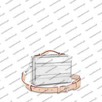 M45885 Handle Trunk Otoño-Invierno Hombres Mujeres Bolso de mujer Diseñador de lujo Top End Rivet Caja Messenger Monedero Lienzo Plata Color Hardware Cuero Cuero Bolso Hombro Hombro
