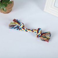 Pet Supplies Home & Gardenpets Cotton Chews Knot Colorf Durable Braided Bone Rope 18Cm Funny Dog Cat Toys Ship Drop Delivery 2021 Fbzfp