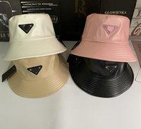20ss PU Deri Kova Şapka Kadınlar Için Moda Klasik Charm Kadınlar Naylon Şapka Yeni Sonbahar Bahar Balıkçı Şapka Sun Caps Bırak Gemi