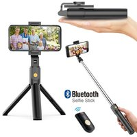 Selfie Stick Wireless K07 Bluetooth tripods Foldable Handheld Monopod Shutter Remote Extendable Mini Tripod for Android IOS Smart Phone