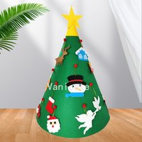 Party Favor Felt Christmas tree children DIY Christmas tree door decorations 5 style T2I52432