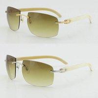 도매 큰 4189705 선글라스 무두질 한 검은 원래 정품 자연 버팔로 경적 태양 안경 UV400 렌즈 남성과 여성 패션 안경 상자