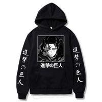 Атака на аниме Titan Anime Levi Ackerman Весна с капюшоном с капюшоном Женщины Мужчины Унисекс вскользь свободные пуловеры Harajuku Одежда Y0906