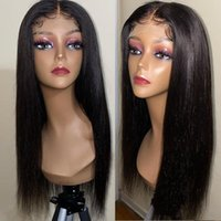 Lace Wigs Lanqi Wholesale Bulk Bone Straight Front Wig 4x4 Closure Brazilian Pre Plucked LaceFront Human Hair For Women