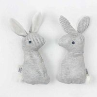 Wholesale- Baby Cute Soft Animal Plush Hand Grab Toys Rattle Infant Baby Stripes Bunny Educational Gift Development Toys K361