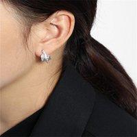 100% 925 Sterling Silver Irregular Stud Earring New Punk Style Geometric Mini Earrings 2 Colors For u Choose