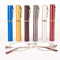 2021 새로운 휴대용 금속 펜 독서 안경 펜 케이스 여성 남성 노인 선물