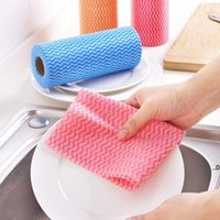 Einweg-Faule-Lumpenwaschbare Geschirrtuch Küche Haushaltsfest-Fussel frei Nicht gewebtstoff nicht leicht zu berühren Ölreinigung Wischtuch FWF9018