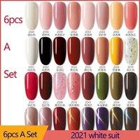 Gel des ongles 6pcs7.5ml Vernis hybrides polonais Tous pour des ongles de manucure Art Semi permanent UV LED COUTEAU DE TOP