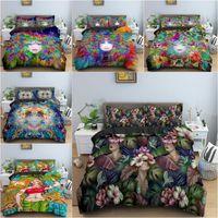 Bedding Sets Dazzle Women Portrait Set Comforter Cover Duvet Single King Queen Size Bedclothes Quilt For Kids Home