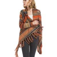 Maglioni da donna Chic Long Stringed Branded Maglione lavorato a maglia Giacca irregolare nappe cappotto manica sciarpa colletto cardigan split abbigliamento Tops