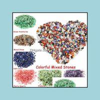 Jade Branelli allentati gioielli18 colori naturali miste pietre miste fiches chips schiacciati pietra guarigione gioielli di cristallo che fa decorazione della casa Drop Deliv