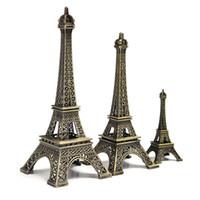 18cm 타워 에펠 홈 장식 항목 빈티지 금속 모델 아이언 크리 에이 티브 장식 현대 인공 사진 소품 공예품