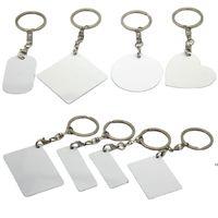 Dye Sublimation Blank Double-sided Metal Keychain sundries DIY Rectangular Personalized Custom Keychains Aluminum Sheet DHB9020