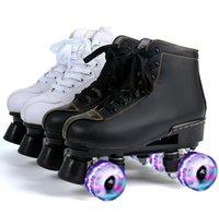 롤러 스케이트 인라인 망 여성 스포츠 스니커즈 패션 스케이트 슬라이딩 블랙 화이트 레드 반사 야외 크기 36-45