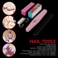 Nail Art Kits 5PCS Sanding Files Buffer Block Manicure Tools Pedicure UV Gel Polishing Tool Set
