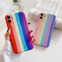 Ins Korea popular rainbow Camera protection Soft silicon Phone Case For apple iphone 7 8 Plus X XS XR MAX 11 Pro 12 MiNi cover
