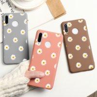 Daisy Flower Téléphone pour Huawei P40 P30 P20 P10 P10 Mate 30 20 10 P SMART 2019 POUR L'HONNEUR 8X 9 10 20 LITE PRO 10I 20I Couverture Etui