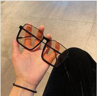 Classic Square Square Mulheres Olho Óculos Anti-Azul Luz Óculos De Plástico Homens Computador Óculos Óculos Ópticos Óculos Retro Metal Hingle 10pcs