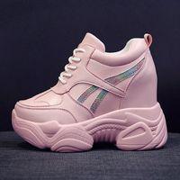 Розовые папуные ботинки Женская обувь 2019 Новая осень и зима сеть красный всевозможные кексы толщины толщины внутри усиления женщин ботинки пастушка F8B0 #