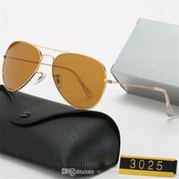 Ray Klasik Tasarım Güneş Gözlüğü Marka Vintage Pilot Yasak Güneş Gözlükleri 3025 Polarize UV400 Erkekler Ben Kadınlar 58mm Cam Lense