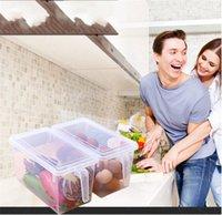 Caixas de armazenamento de geladeira Cozinha Transparente Caixa de Armazenamento PP Greões Armazenamento Conjunto de Armazenamento Selado Casa Organizador Alimentar Recipiente 696 K2