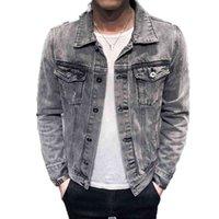 Denim Jacket Hole Retro Motorcyle Basic Coat Streetwear Hip Hop Bomber Jacket Cowboy Men's Jean Jacket Chaqueta Hombre