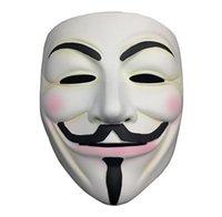 화이트 v 마스크 무도회 마스크 아이 라이너 할로윈 전체 얼굴 마스크 파티 소품 Vendetta 익명 영화 가이 바다 운송 ZZC6218