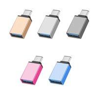 Metal Adapter Converter USB 3.1 Typ C OTG Adapter Man till USB 3.0 En kvinnlig omvandlare OTG-adapter för Samsung Android-telefon