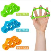 Fidget Hand Grip Finger Toy Exerciser Strengthener Wrist Tension Trainer Resistance Stretcher Strength Resistance Bands Silicone Ring Belt Stress Relief LY6301