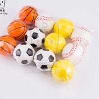 6cm Squeeze Ball Squeezy Espuma Esponja PU Fútbol Baloncesto Tenis Baseball Juguetes DiscomPresión Juguete Squishy Squishy Alivio Alivio Bolas H38Q5UX