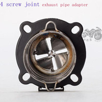 Motorcycle Exhaust Adapter Ceducer Connector Pipe 4 Screw Jo...