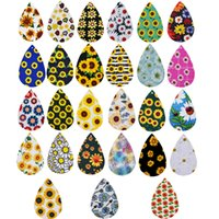 DIY Leder Ohrringe Accessoires Sunflower Leder Ohrringe Daisy Ohrringe Stück