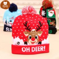 LED funny Christmas Hat Novelty Light-up Colorful Stylish Beanie Cap Knitted Xmas Party es