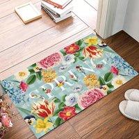 Primavera flor xadrez plano de fundo do quarto do quarto da cozinha do assoalho do assoalho do banheiro do banheiro Home capacitação para a porta de entrada