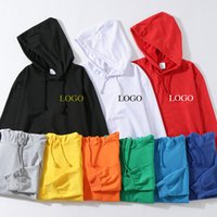 Spring and autumn Terry sweater printed Hooded Jacket long sleeve classmate party group class clothes advertising shirt