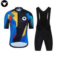 Yarış Setleri 2021 Pro Takım Siyah Koyun Bisiklet Jersey 19D Bib Set Bisiklet Giyim Ropa Ciclism Bisiklet Giyim Giyim Erkek Şort