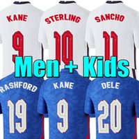 Top Thai Soccer Jersey 2020 Kane Esterlina Rashford Lingard Vardy England Sancho Arnold 20 22 Camisas de Futebol Homens + Kids Kit Sets