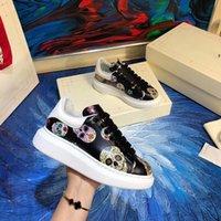 Мода дизайнер повседневные туфли женщин мужской мужской ежедневный образ жизни граффити скейтбординг обувь роскошные модные платформы гуляющие тренеры черный GL K6