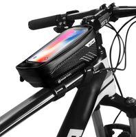 Novos sacos de ciclismo Bicicleta Bicicleta Bicicleta À Prova D 'Água Headbar Handlebar Mobile Phone Bag Saco Caso Pannier para 4.0 ~ 6.5in Telefone