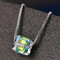 HBP Luxury Summer New Diamond Collier Fashion Pendentif Cristal Polyvalent frais Personnalité créative