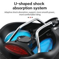 Bike Saddles 2 In 1 Bicycle Seat With Taillight Mountain Saddle Hollow Breathable Sponge Thickened Soft And Comfortable Riding