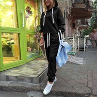 Women's Two Piece Pants Tracksuit Set Casual Solid Color Sports Sweatershirt Long Sleeved Hoodie Trousers Suit
