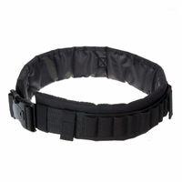 Cintura Apoio Tático Molle Belt Army Utility Combate CS Acessórios Esportivos 25 Rounds Shells Bolsas Bolas Homens Nylon Hunting Belt1