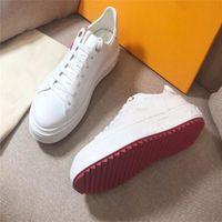 Luxus 2021 Casual Schuhe High-End-Frauen Dick-Sohlen-farbe passende Leder komfortable und dauerhafte Mädchen Herrengürtelboxen staubfeste Karten Größe EUR35-42