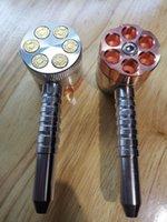 Tuyau de fumage avec moulin à six tuyaux de tireur avec meuleuses à deux fonctions de tuyau de tabac et de meuleuse d'herbes herbes meuleuse Kimaly Shop