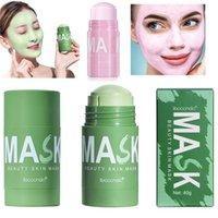 Chá verde Rosa Limpeza Máscara sólida Purificação de barro Máscaras de petróleo anti-acne berinjela rosto cuidado pele